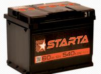 Купить Аккумулятор 6CT STARTA R+ 60Ah  540A в Луганске ЛНР